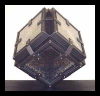 """""""Bound"""" steel, plexiglass and wax, Louis Delegato 2001"""