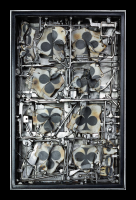 """The Eight of Clubs"" steel, glass, paper and wax by Louis Delegato 2010"