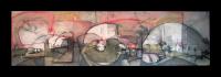 """""""Indiscriminate Volition"""" oil and graphite on panel, Louis Delegato 2008"""
