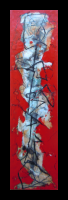 """The Stance"" encaustic medium & pigments on panel 2010 by Louis Delegato"
